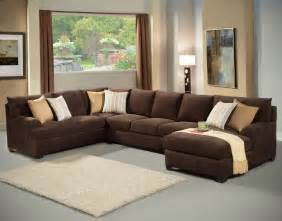 Chocolate Brown Sectional Sofas Brown Sectional Sofa Chaise Hereo Sofa