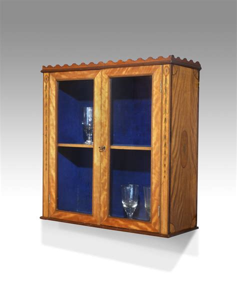 georgian display cabinet antique wall hanging cabinet