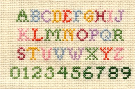 el pattern words free alphabet cross stitch patterns