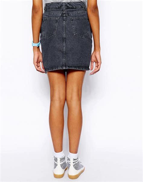 american apparel american apparel high waist denim skirt