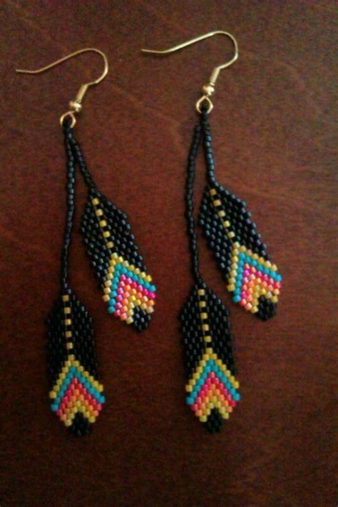 beaded feathers 25 best ideas about beaded earrings on seed