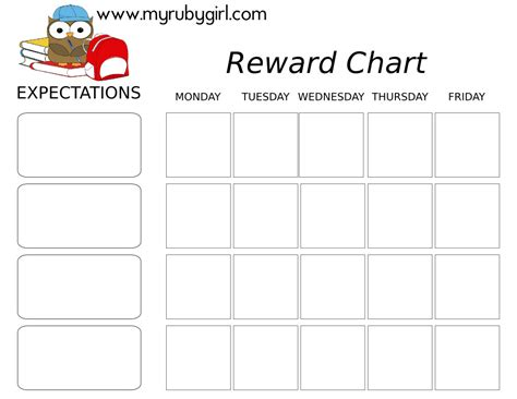 printable incentive charts for school best photos of printable reward chart school school