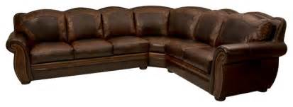 western themed leather sectional rustic living room