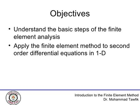 Introduction To The Finite Element Method Using Basic Programs an introduction to the finite element method