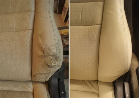car upholstery leather repair vehicle seat repaired and restored like new interior