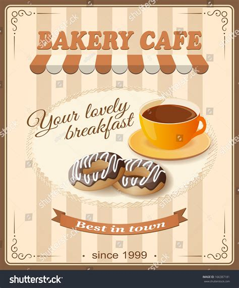 banner cafe design vector vector illustration banner bakery cafe cup stock vector