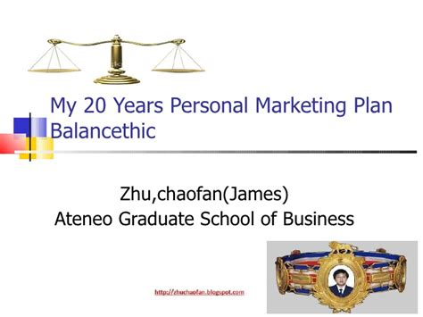 Ateneo Graduate School Mba by My 20 Years Personal Marketing Plan