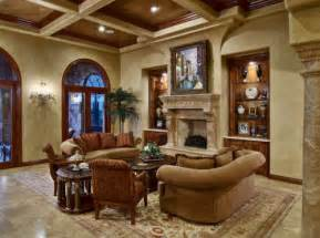 Tuscan living room with traditional furniture