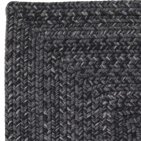 black braided rugs homespice decor ultra durable braided rectangular black area rug black