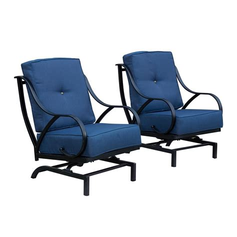 patio festival rocking metal outdoor lounge chair
