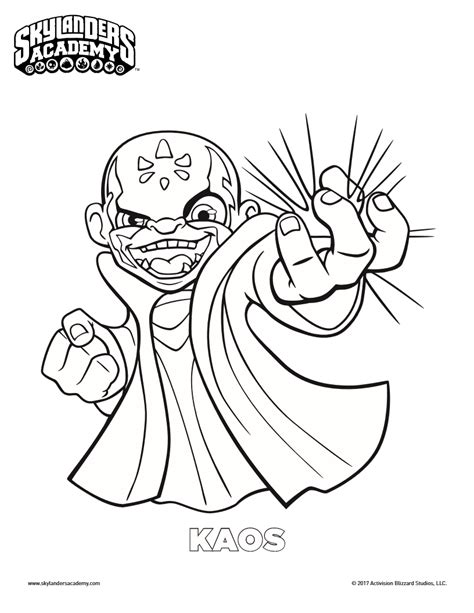 skylanders coloring pages download free skylanders kaos coloring page mama likes this
