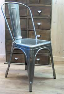 tolix chaise a par xavier pauchard brut verni