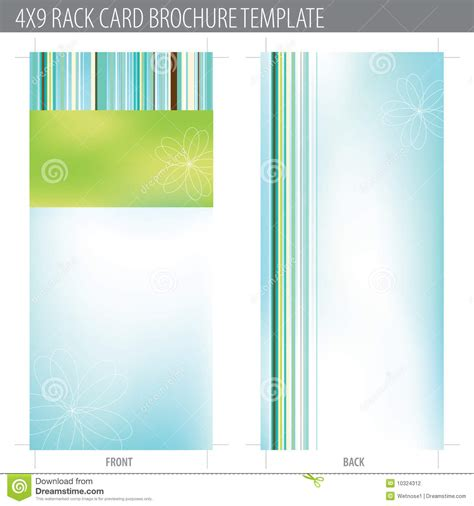 4x9 Rack Card Template by 4x9 Rack Card Brochure Template Stock Photography Image