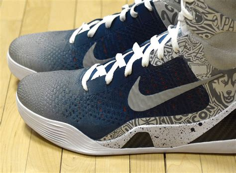 uconn basketball shoes nike 9 elite quot uconn quot by mache customs for geno