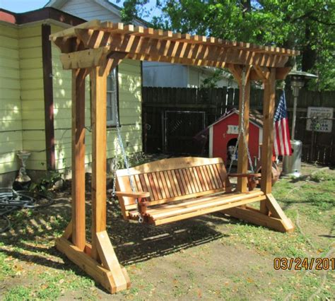 free standing bench swing outdoor swing frames hand made cedar porch swings