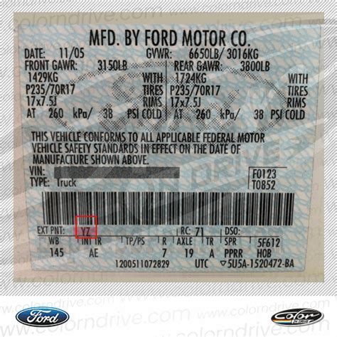 Ford Europe by Ford Europe Vernice Per Ritocco Color N Drive