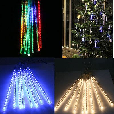 how to make raining lights in a tree 144 240 led meteor shower light string decoration tree ebay