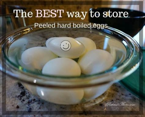 how to store peeled boiled eggs recipes
