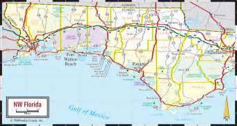 map of ta florida and surrounding cities florida panhandle map