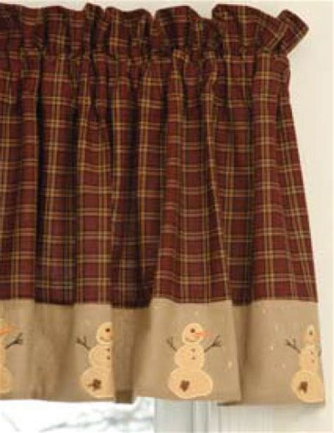 Snowman Valance primitive snowman valance from your s delight by s the patch
