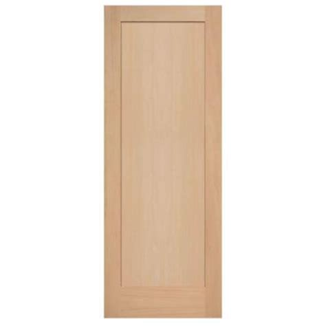 Maple Interior Door Masonite 30 In X 84 In Maple Veneer 1 Panel Shaker Flat Solid Wood Interior Barn Door Slab