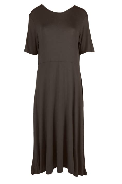Plain Cap Sleeve Dress womens a line cap sleeve swing skater dress plain