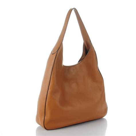 Prada Vitello Daino Mini Hobo Purse by Prada Vitello Daino Medium Pocket Hobo Bag Canella 137082