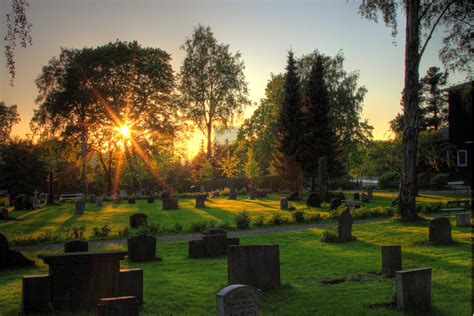 Sunset Gardens Cemetery cemetery in sunset 2 by mariusjellum on deviantart