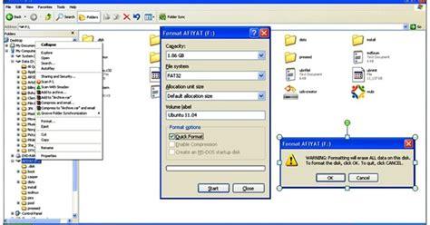 format flashdisk menggunakan software tutorial cara membuat bootable ubuntu menggunakan