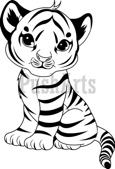 Baby Tiger Outline by Coloring Pages Of Baby Tigers Search Coloring Pages Coloring