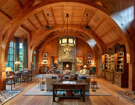 rustic interieur wood fishing lodge sleeping cabin with rustic interior
