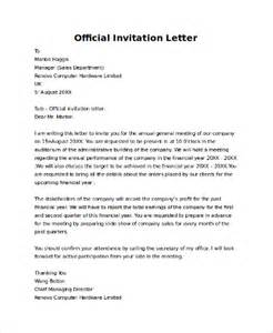Official Conference Invitation Letter Sle Invitation Letter 9 Exles In Pdf Word