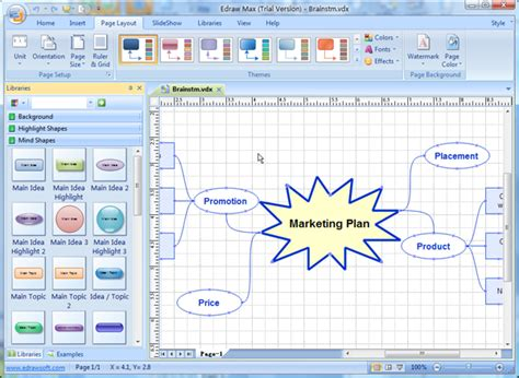 visio mind map template visio compatible software