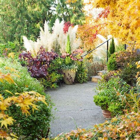 fall landscaping tips fall landscaping ideas contrast lighting landscaping