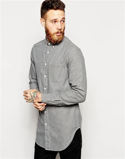 Kaos Skate Longline 2016 cotton mens dress shirts model custom designs