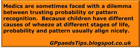 pattern recognition in primary care paediatrics for primary care and anyone else