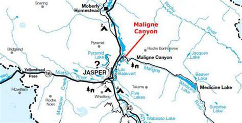 canadian karst map 20010701 canada trip day 5 maligne and yoho