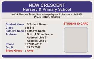 School Id Templates template galleries nursery school id card templates