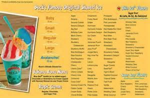 and bucks menu bahama buck s menu menu for bahama buck s frisco frisco