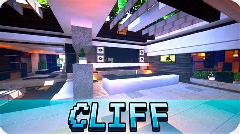 minecraft modern cliffside house design cinematic map  youtube