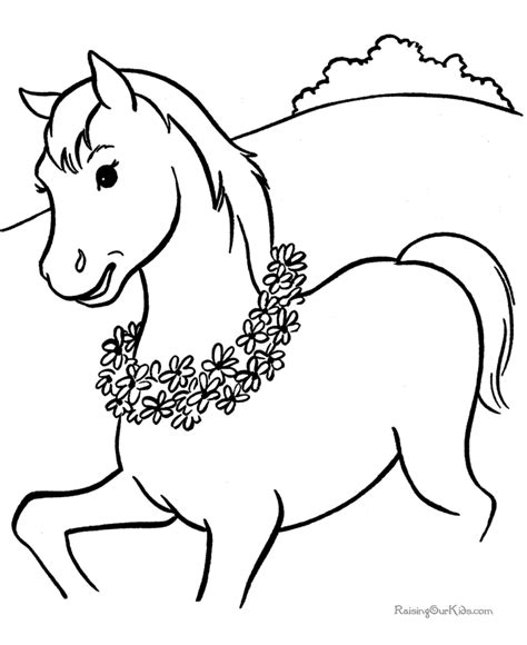 coloring pages of horseshoes horse coloring page 005