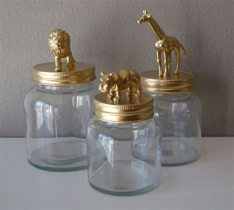 home decor storage jars gold giraffe by