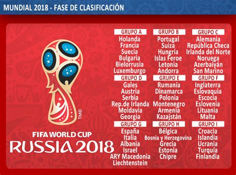 grupo brasil mundial 2018 todos los grupos de la fase de clasificaci 243 n europea para