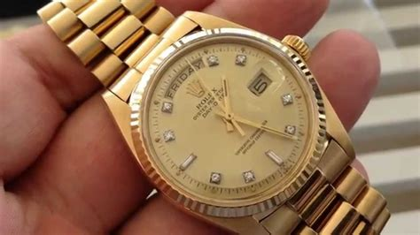 date on day vintage rolex president 1803 day date