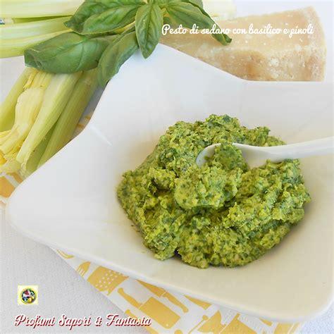 sedano ricette veloci pesto di sedano con basilico e pinoli ricetta facile e veloce
