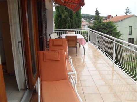 balkon liegen ferienwohnung casa croatia 1 kvarner bucht insel krk