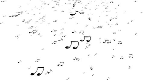 animation layout notes animated falling white 3d music notes in 4k transparent