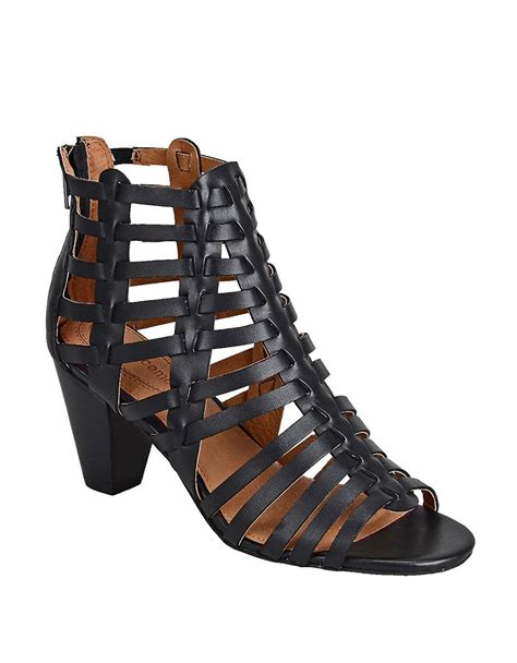 strappy black sandals corso como cour strappy leather high heel sandals in black