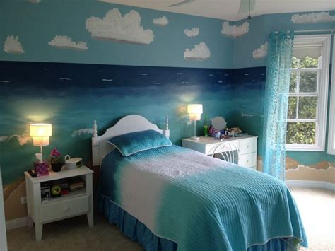 themed bedroom beach theme bedroom mermaid loft ideas pinterest