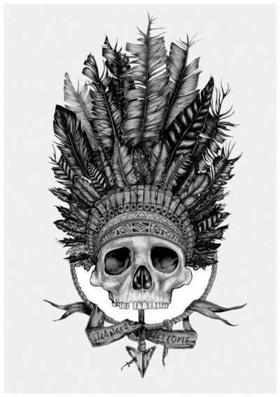 skull headdress tattoo skull headdress ideas headdress
